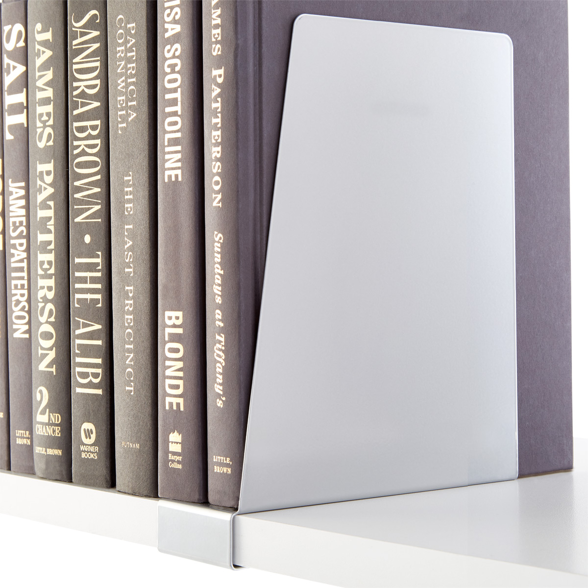 Platinum Elfa Solid Shelf Book Supports