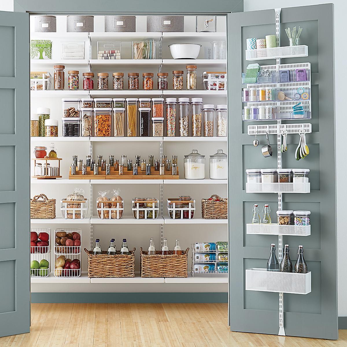 Elfa Utility White Mesh Pantry Door Amp Wall Rack The