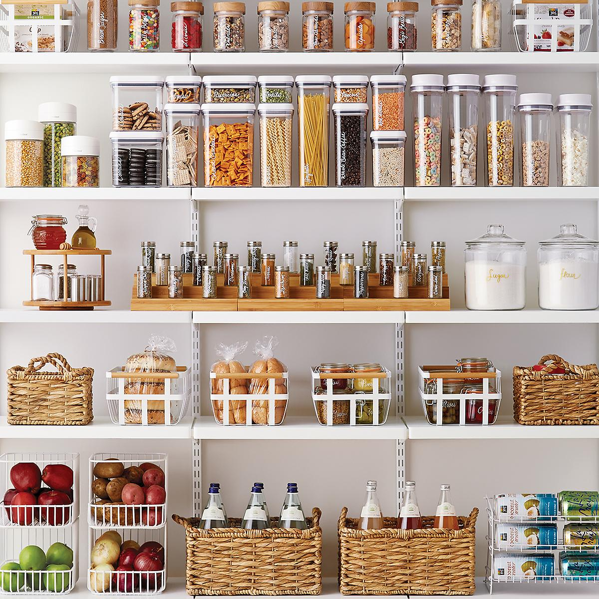 Kitchen Pantry Cabinet Organization Ideas Plate Rack Shelf: OXO Good Grips Rectangular POP Canisters