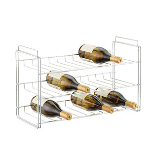 Chrome 18-Bottle Stackable Wine Rack