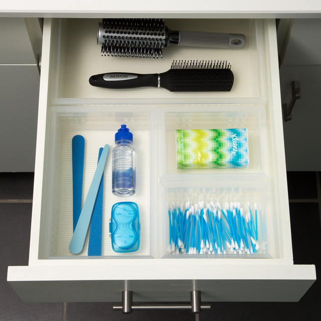 Clear Bathroom Stackable Drawer Organizers Starter Kit