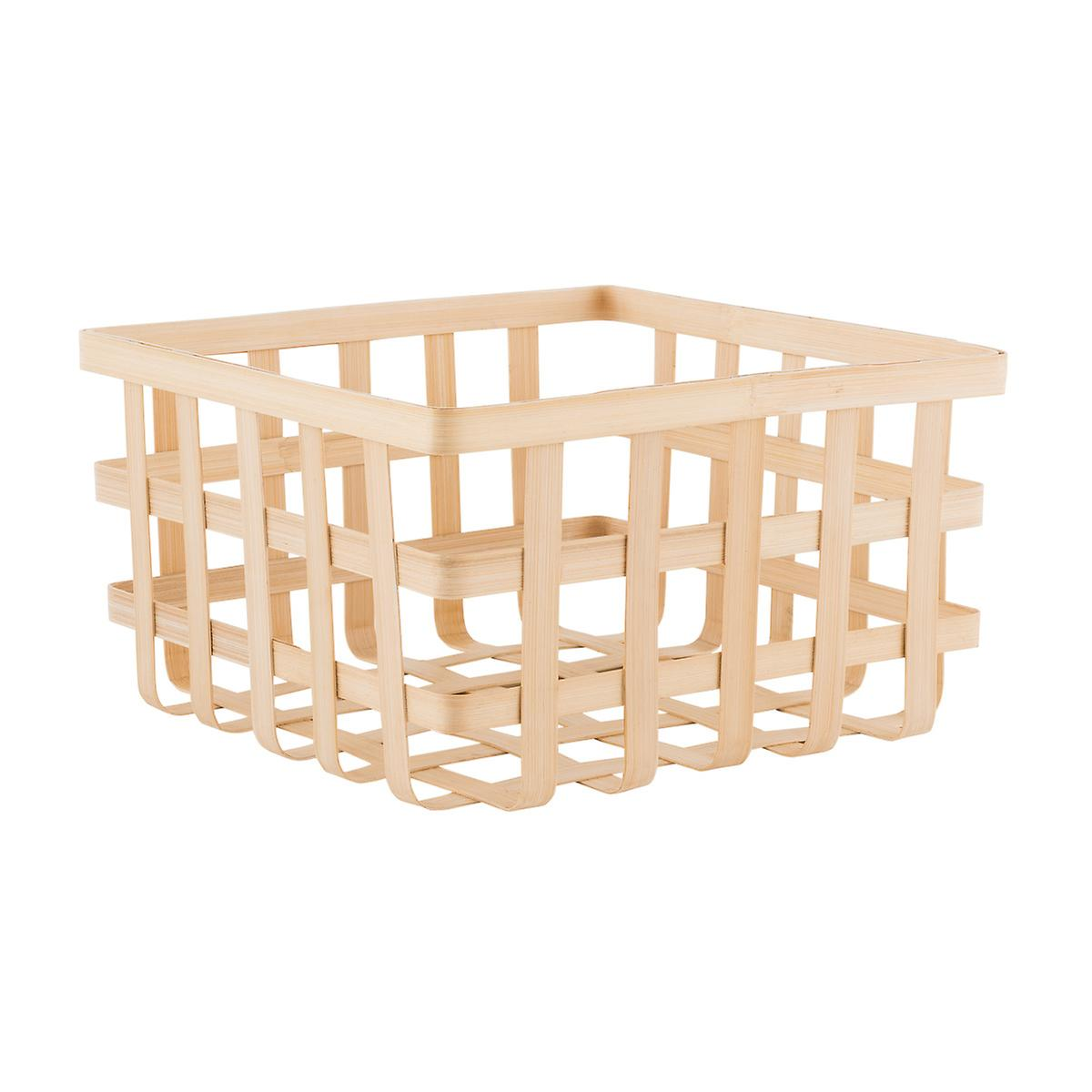 Decorative Bamboo Storage Box : Square bamboo storage basket the container store