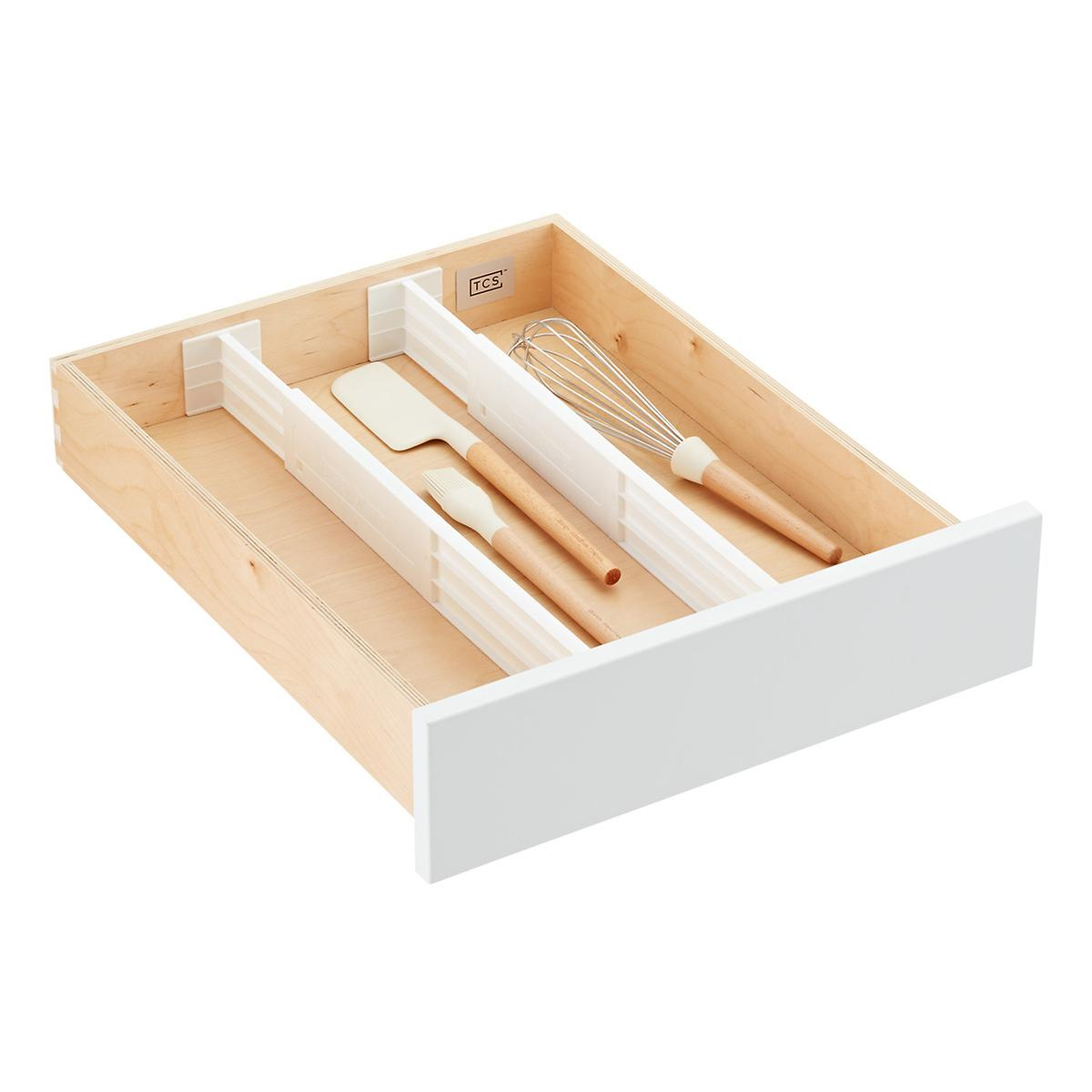 com dp set drawer organizer amazon piece flatware oceanstar bamboo expandable