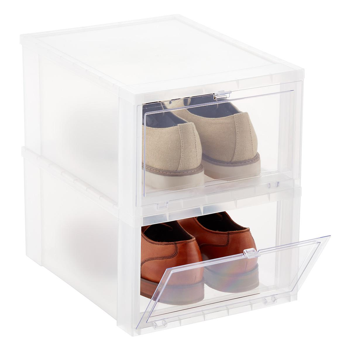 Men's Drop-Front Shoe Box | The Container Store