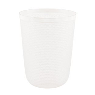 Clear Round Cottage Woven Wastebasket