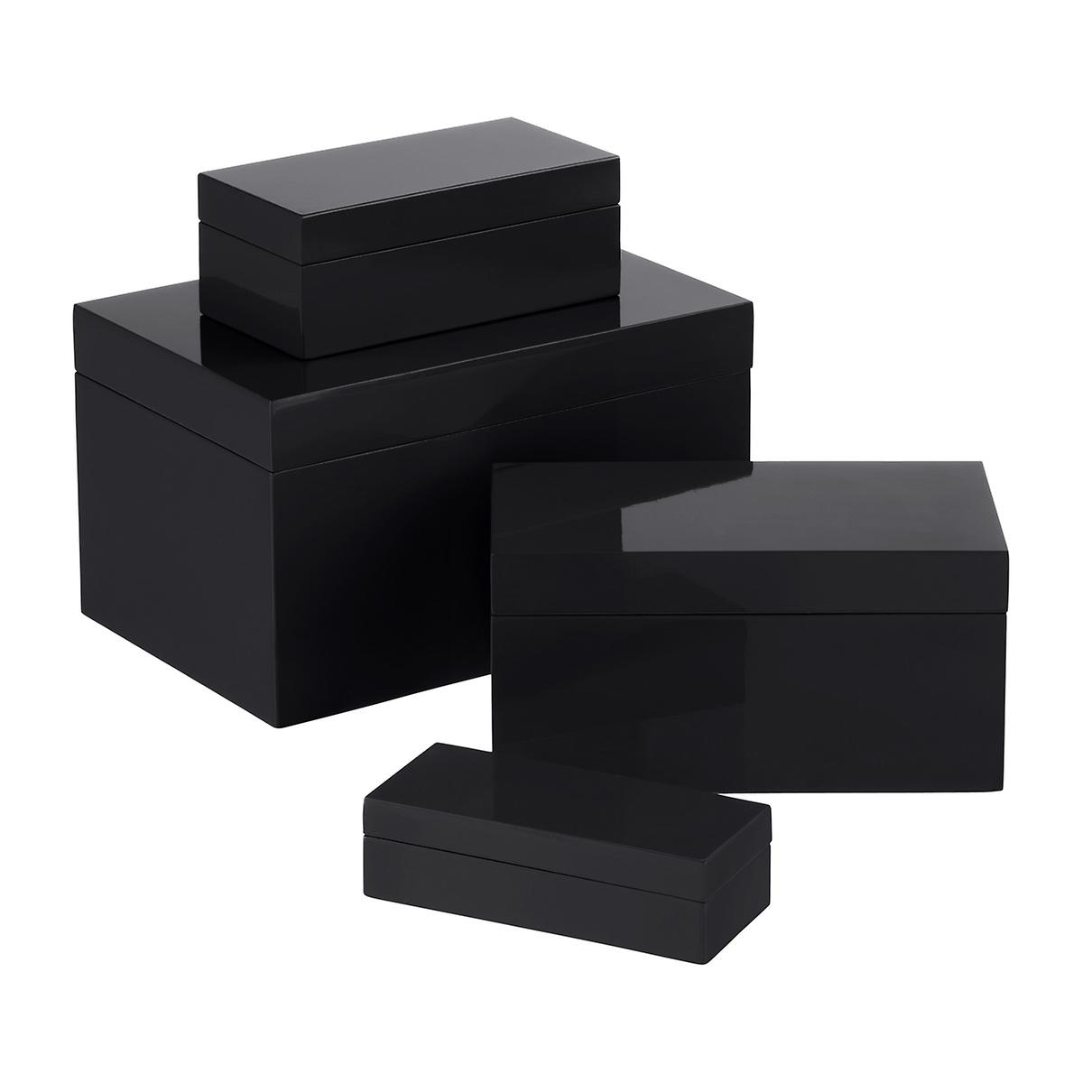 Black Lacquered Storage Boxes The Container Store