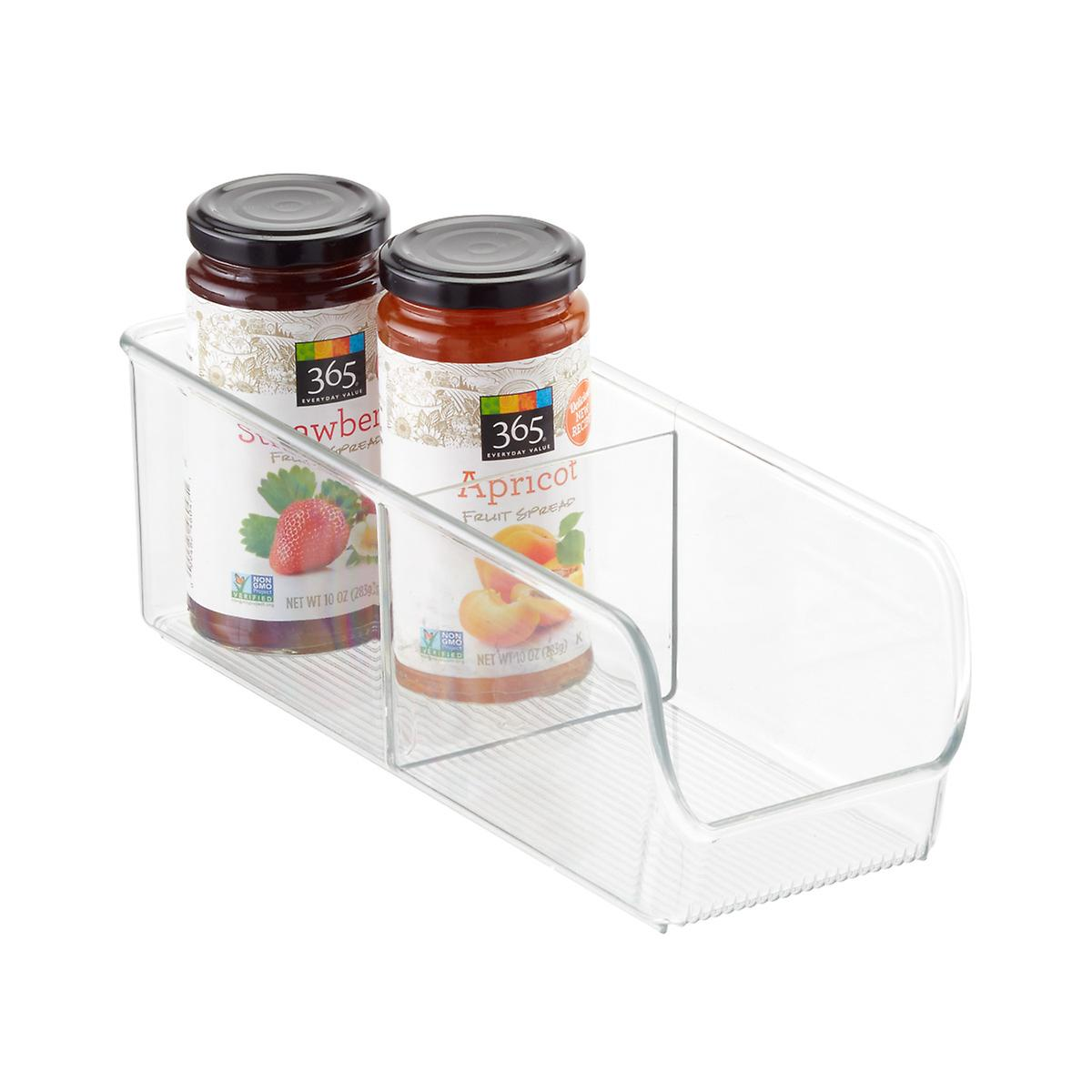 iDesign Linus 2-Section Divided Cabinet Organizer