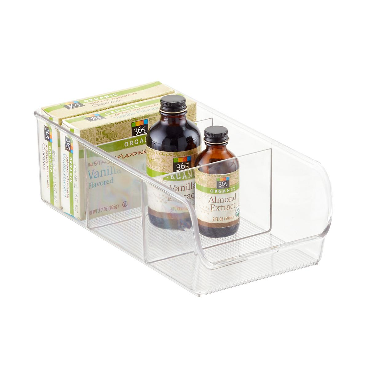 Kitchen Shelf Organiser: InterDesign Linus 3-Section Divided Cabinet Organizer