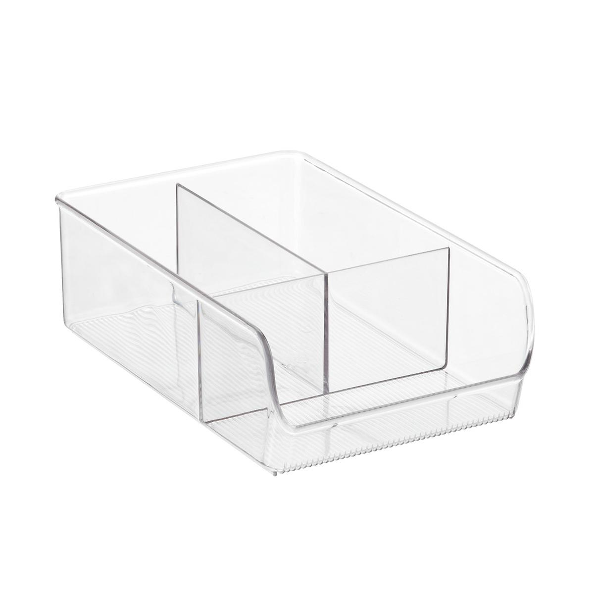 Linus wide 3 section cabinet organizer the container store for Kitchen cabinet section