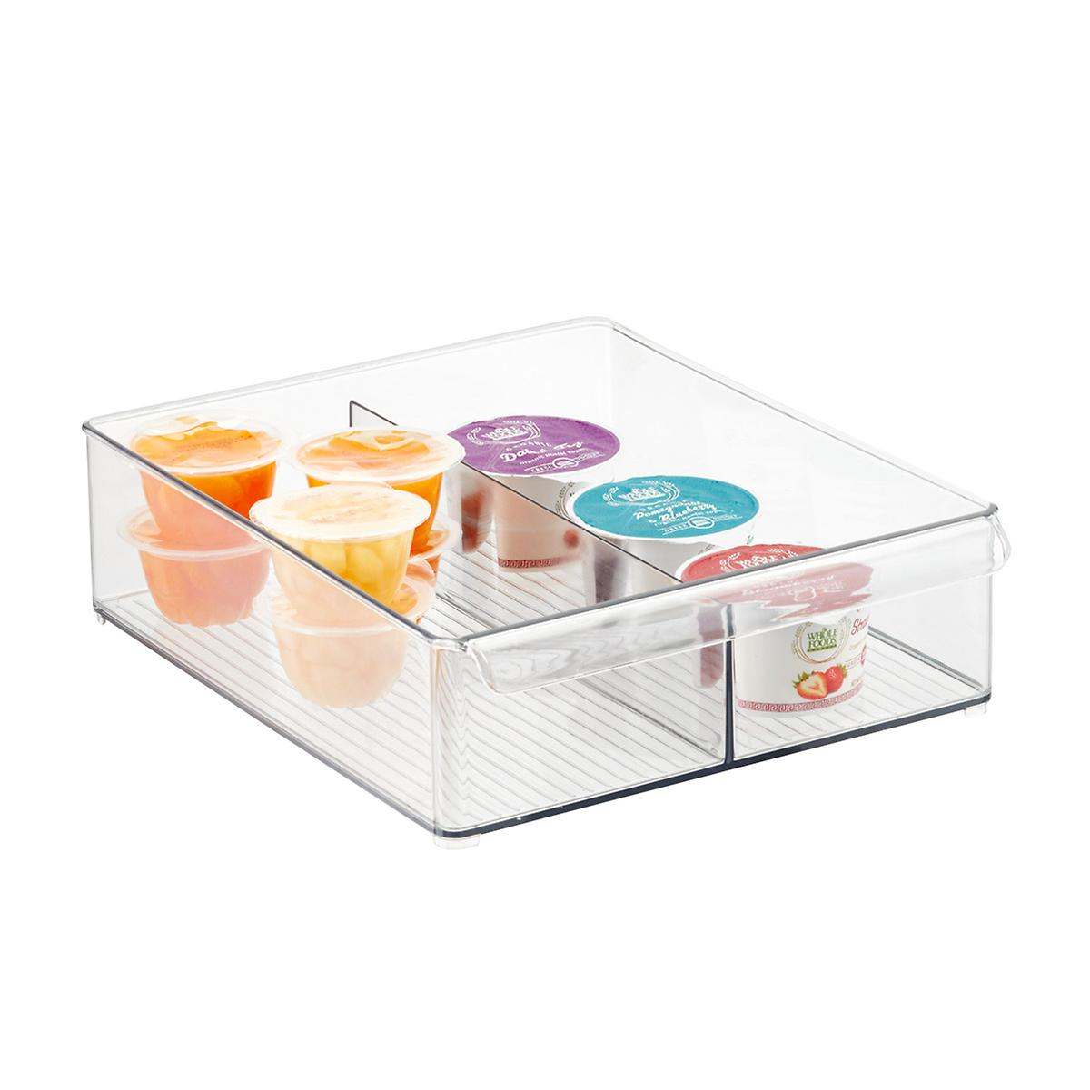 iDesign Linus Deep Divided Fridge Bin