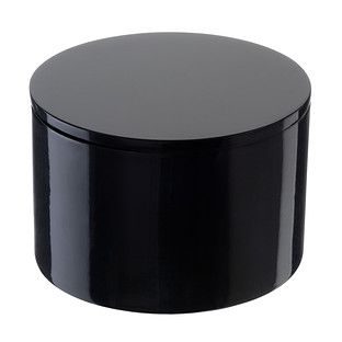 Black Round Lacquered Box