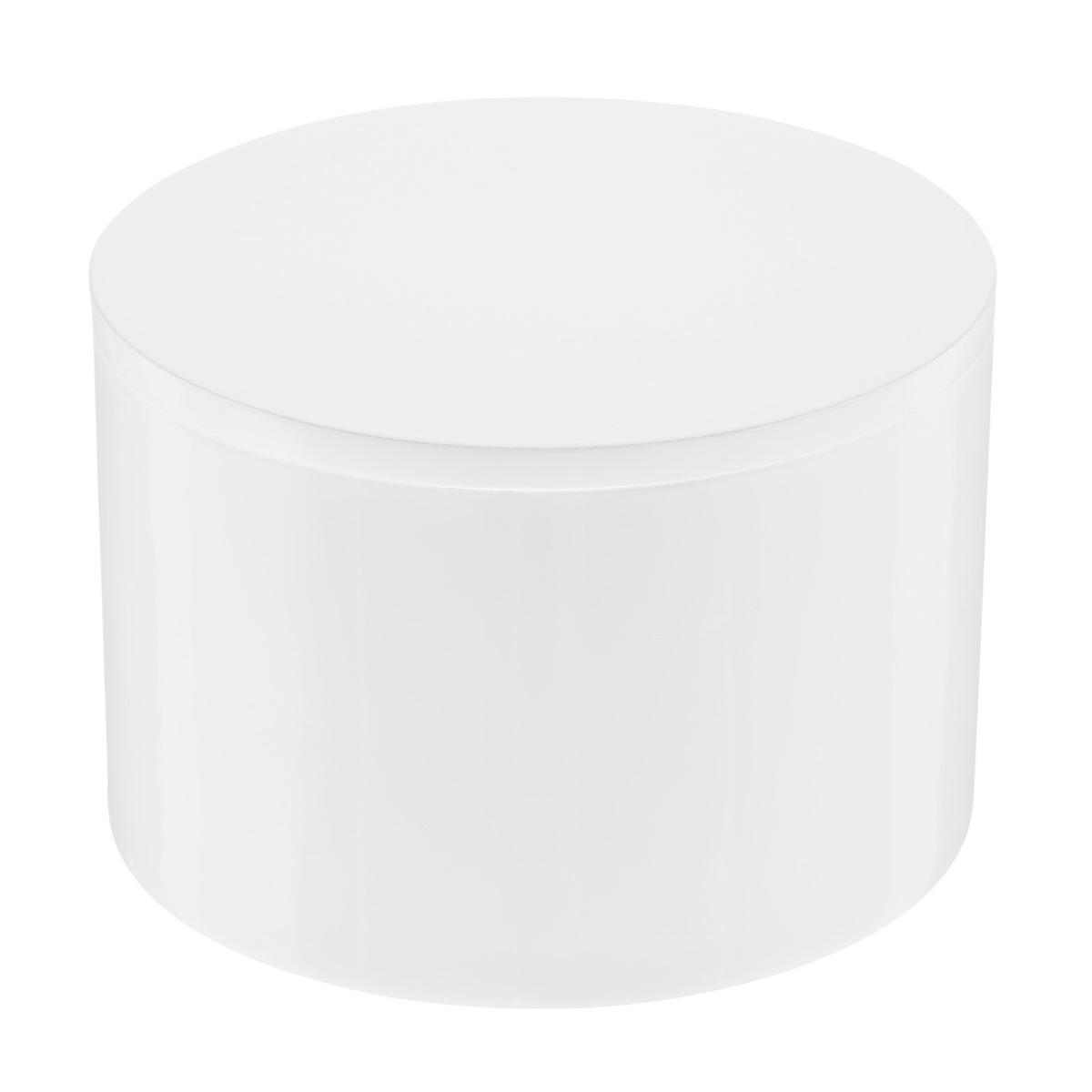 White Round Lacquered Box
