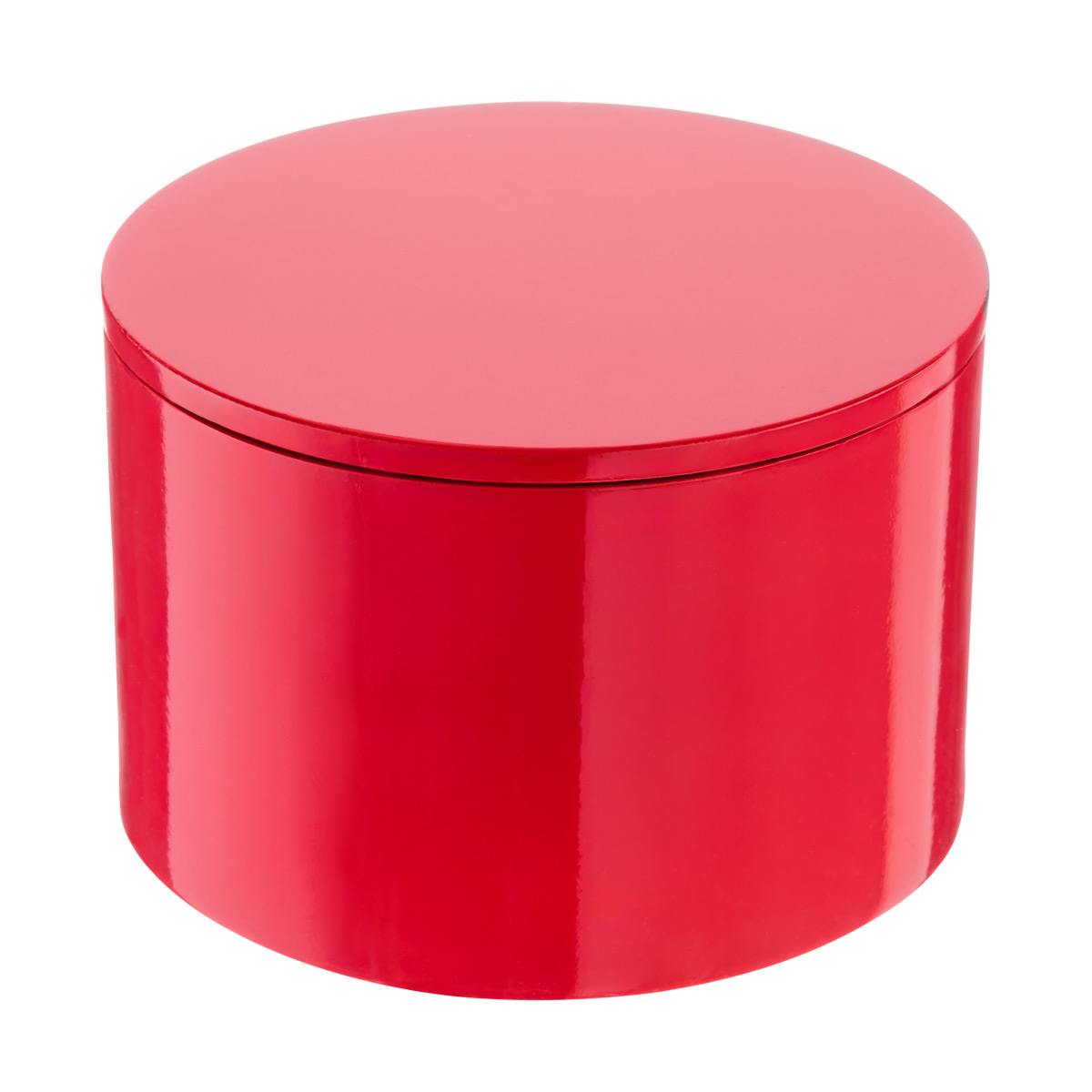 Red Round Lacquered Box