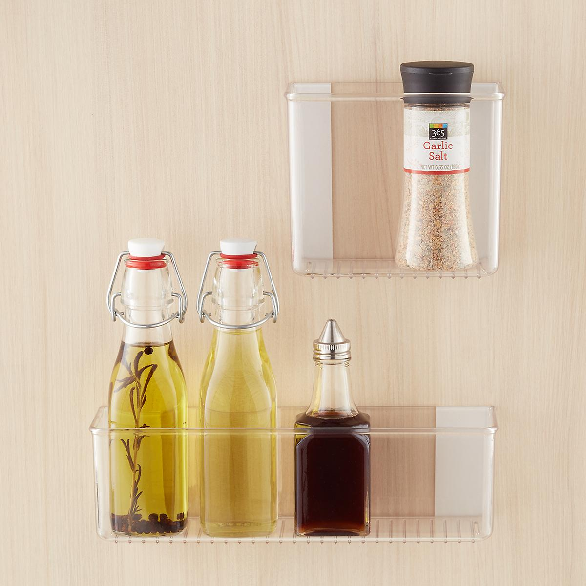 Kitchen Shelf Organiser: InterDesign Affixx Adhesive Organizer Bins