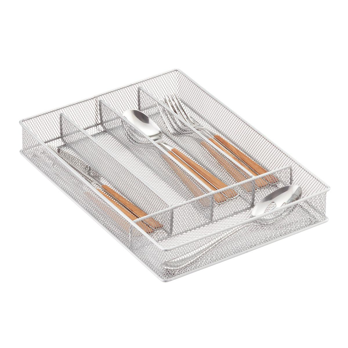 Silver Mesh Cutlery Trays The Container Store