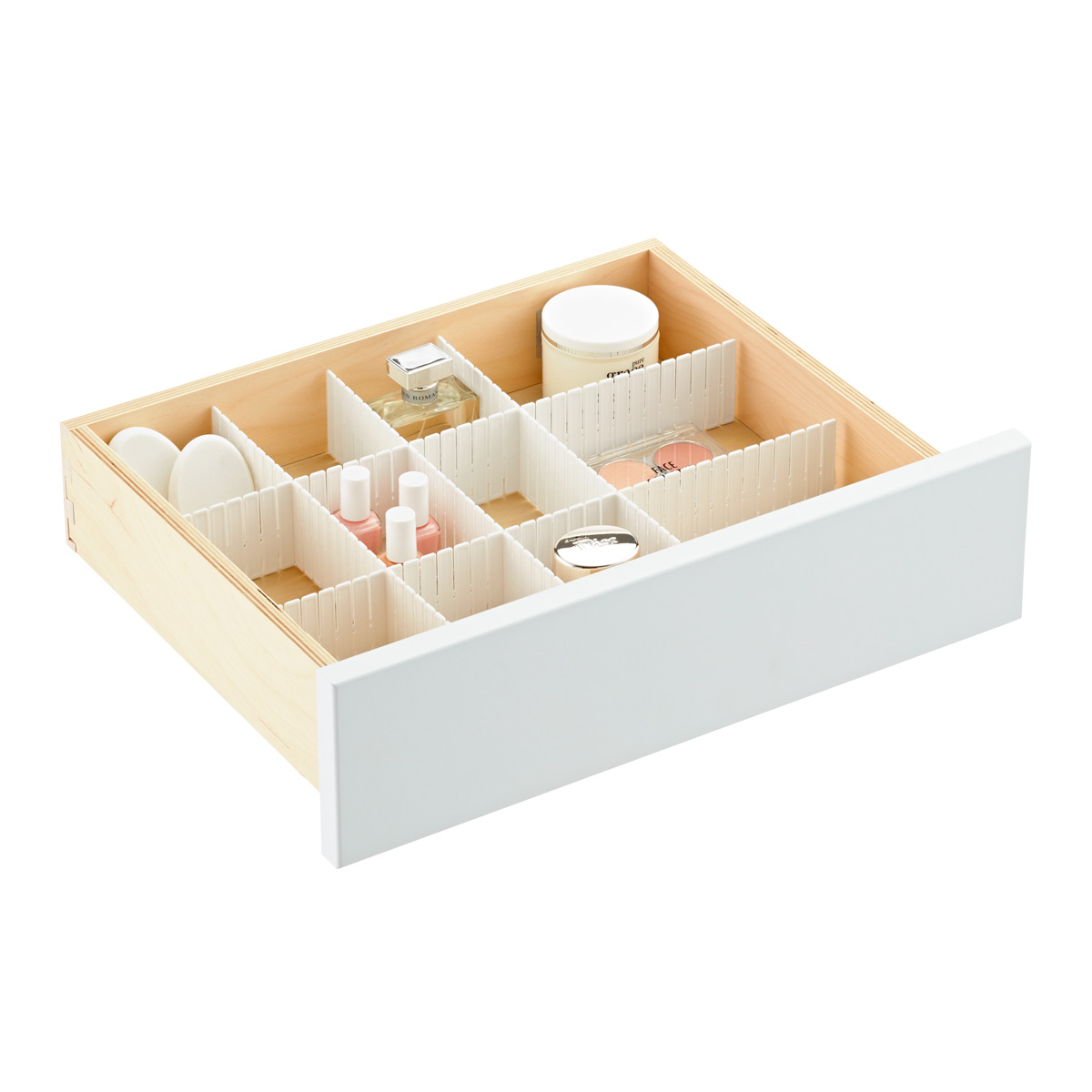 trays organizers of size designs cabinet bathroom out home cabinets full pull drawer organizer