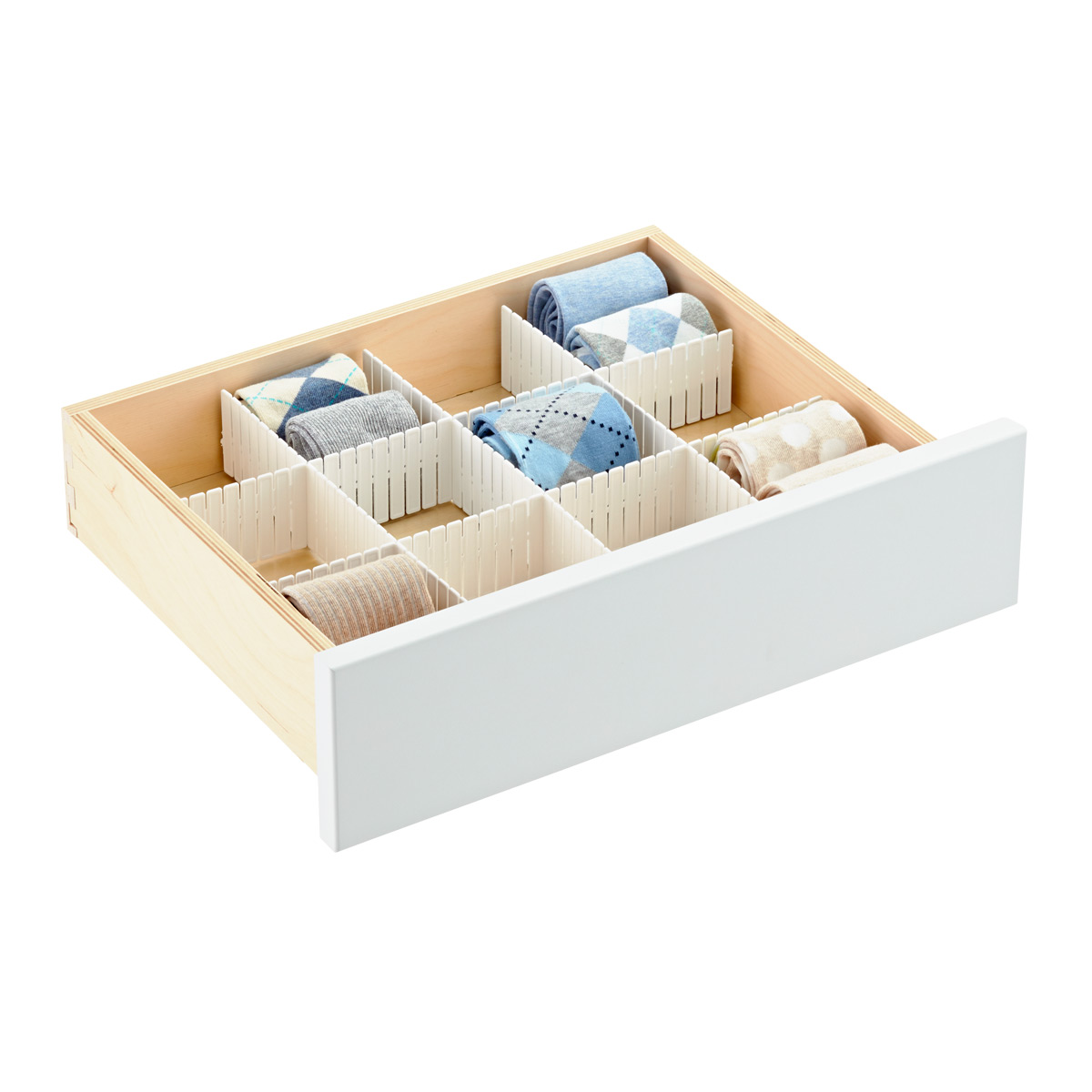 Slotted Interlocking Drawer Organizers