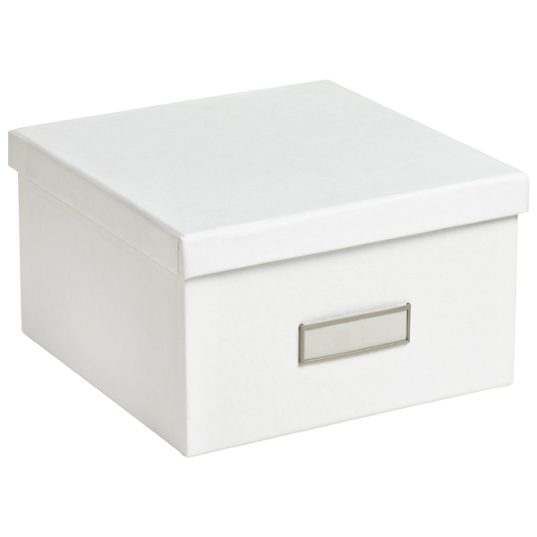 Bigso White Stockholm Photo Storage Box