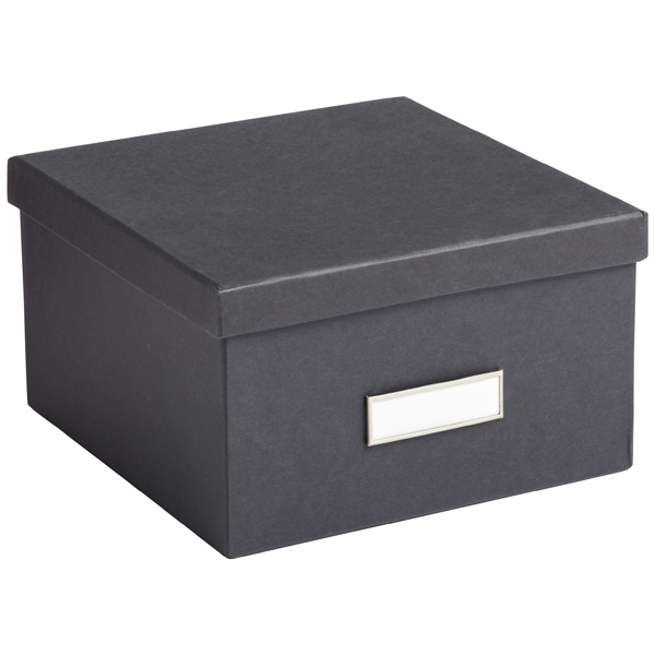 Bigso Graphite Stockholm Photo Storage Box