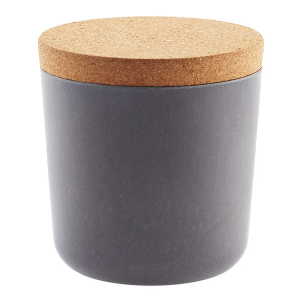 Grey Bamboo Jar with Cork Lid