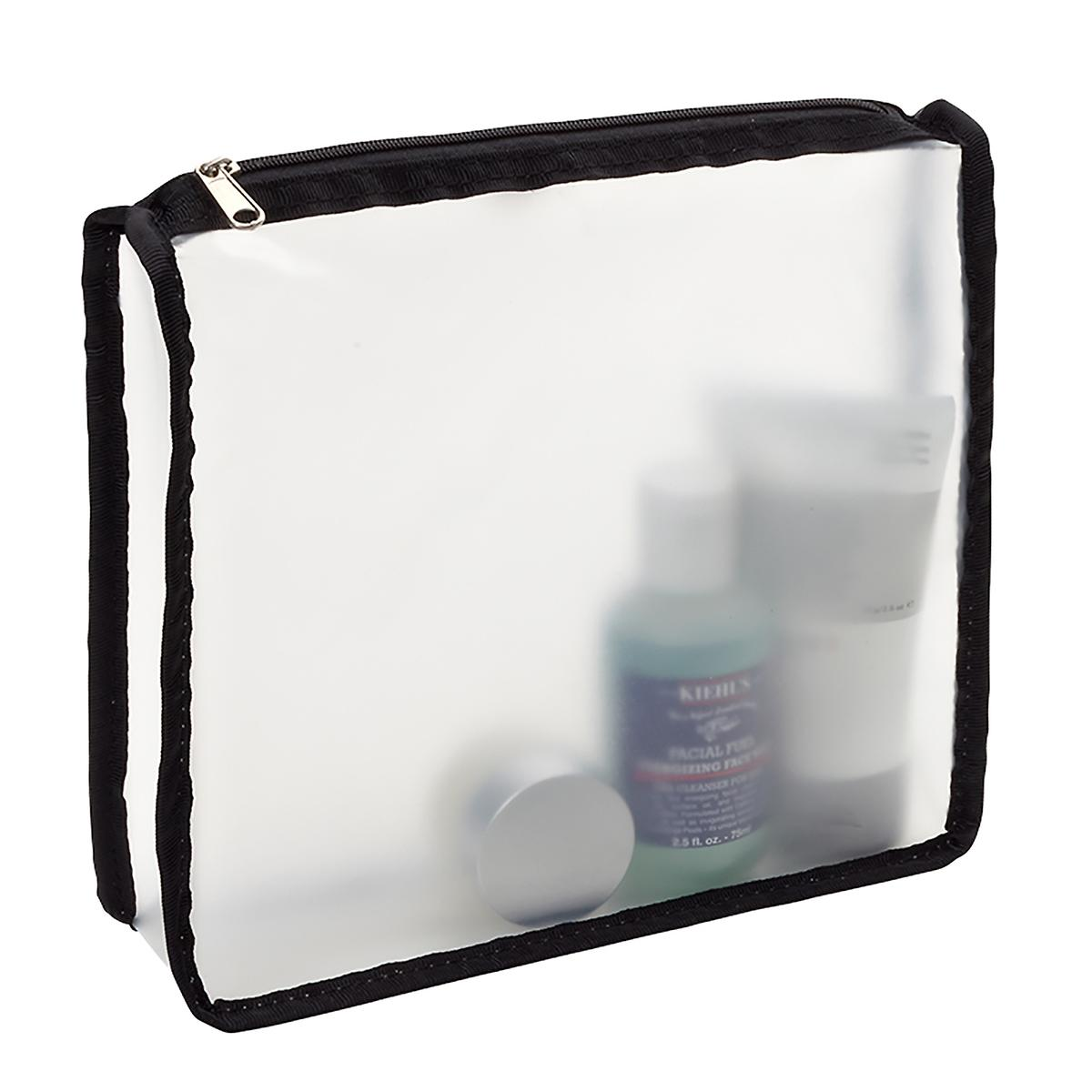 Black Zippered Travel Pouches