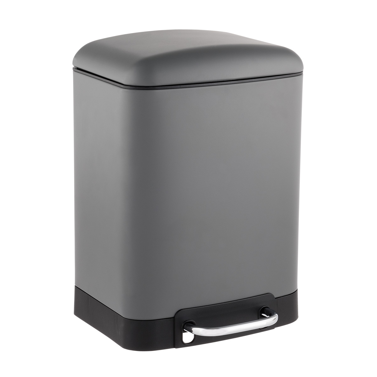 1.5 gal. Matte Grey Rectangle Step Trash Can