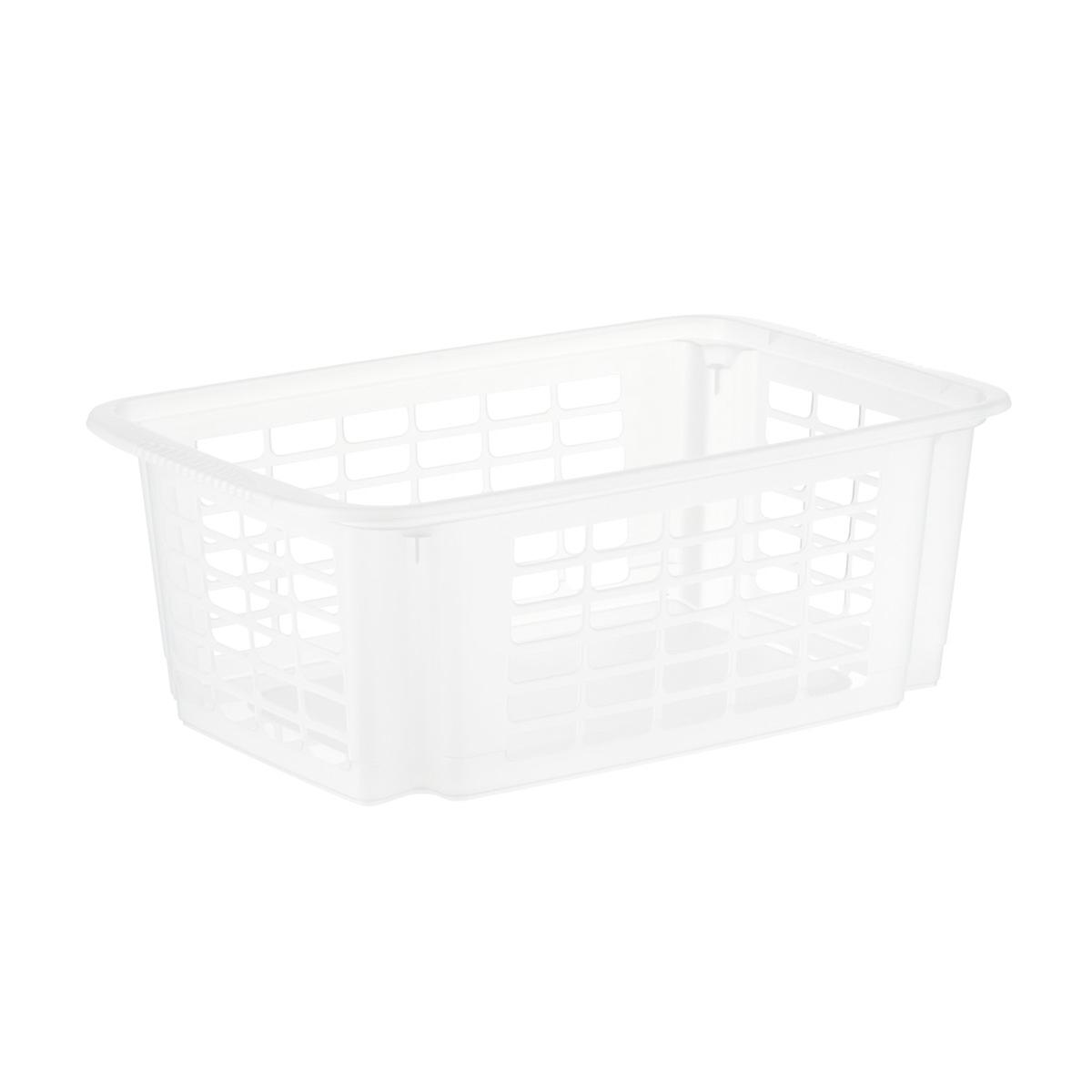 Clear Stackable Plastic Storage Baskets The Container Store