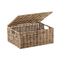 Ashcraft Storage Box with Hinged Lid  sc 1 st  The Container Store & Baskets: Wicker Baskets Decorative Baskets u0026 Storage Bins | The ...