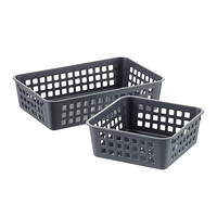 Grey Multi Purpose Plastic Storage Baskets