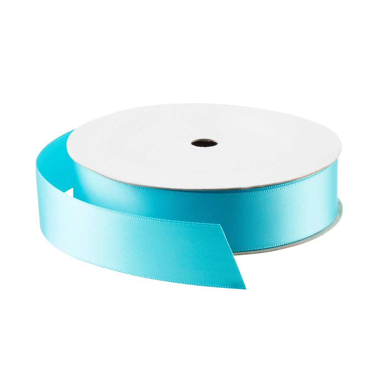 Misty Turquoise Double Face Satin Ribbon