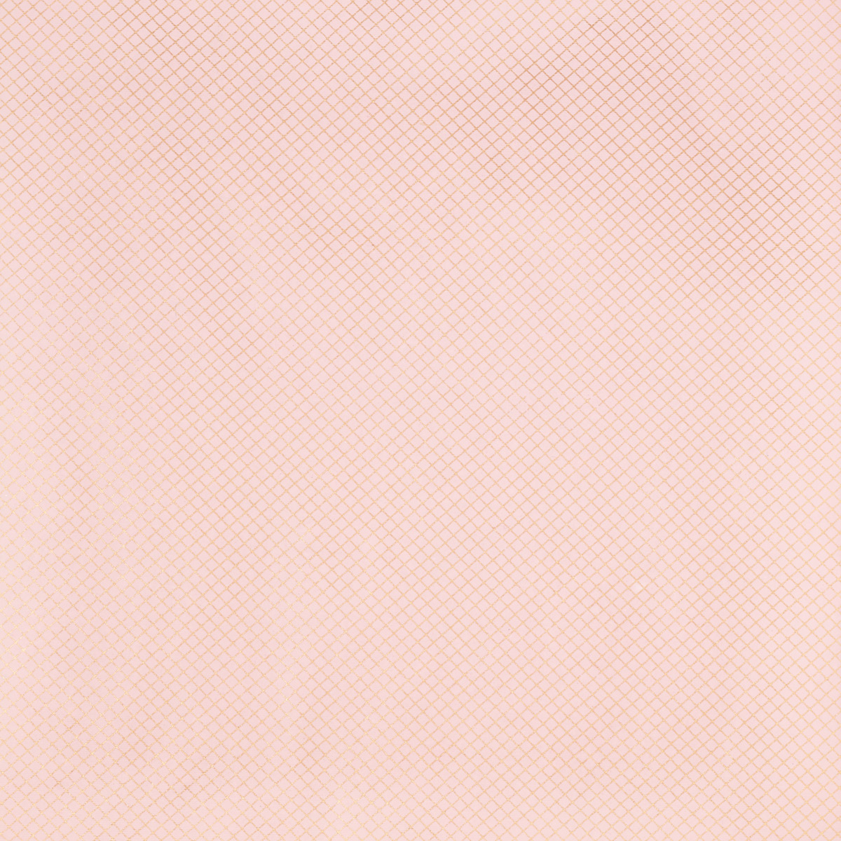 Blush Pink & Gold Grid Foil Wrapping Paper Sheets