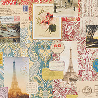 Parisian Voyage Wrapping Paper Sheets