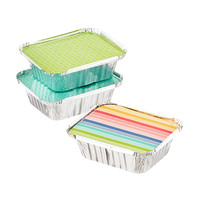 Small Brights Foil Baking Tins with Lids
