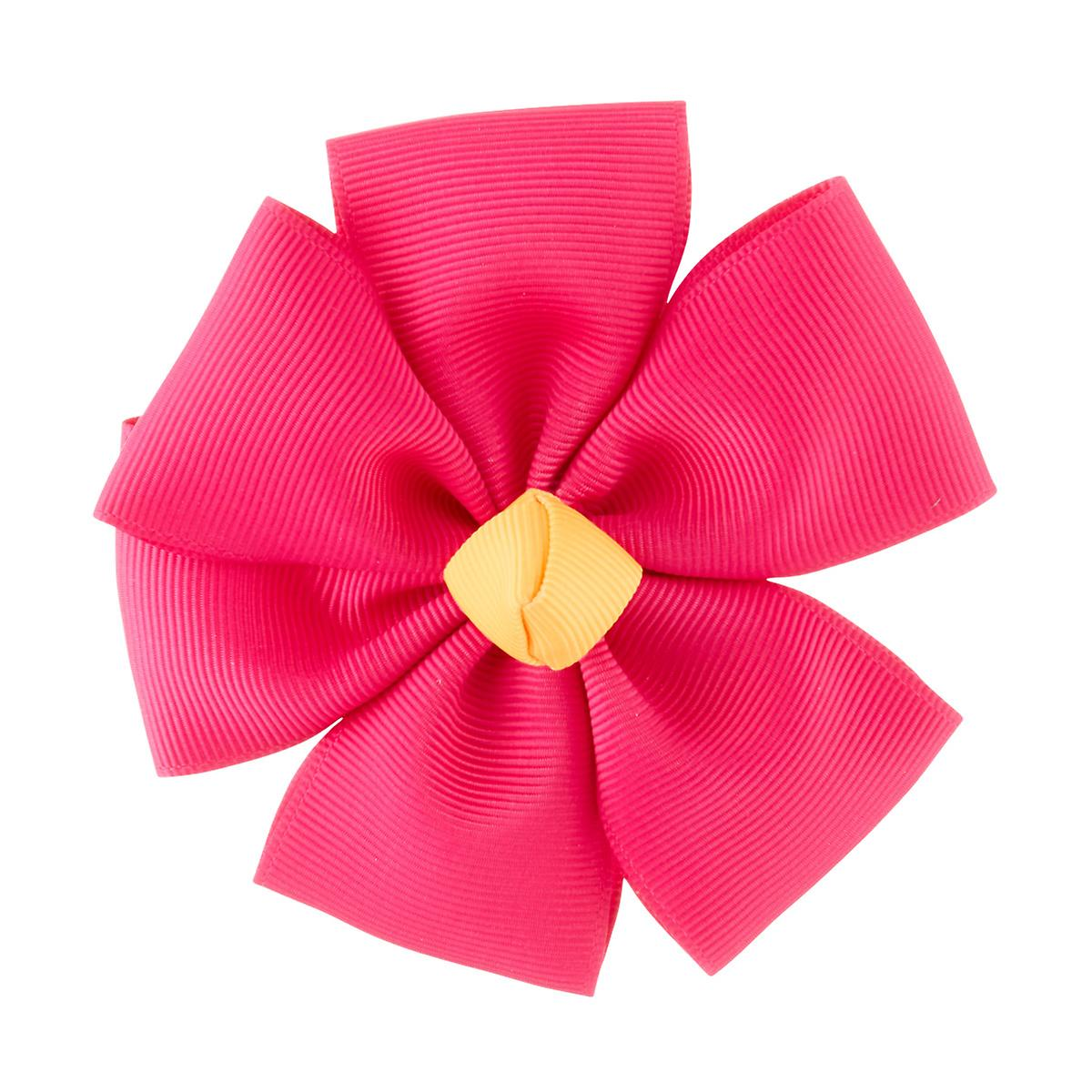 Pink Grosgrain Flower Bow