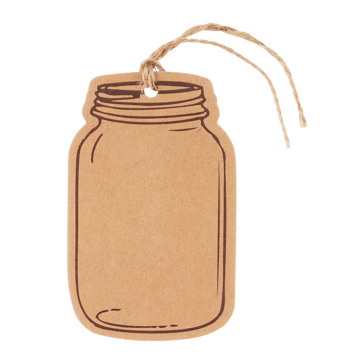 Gift tags hanging gift tags christmas gift tags the container store kraft mason jar gift tags negle Gallery