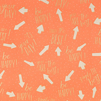 Coral Lovely Sayings Wrapping Paper