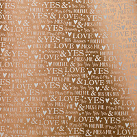 Champagne Wedding Sentiments Foil Wrapping Paper