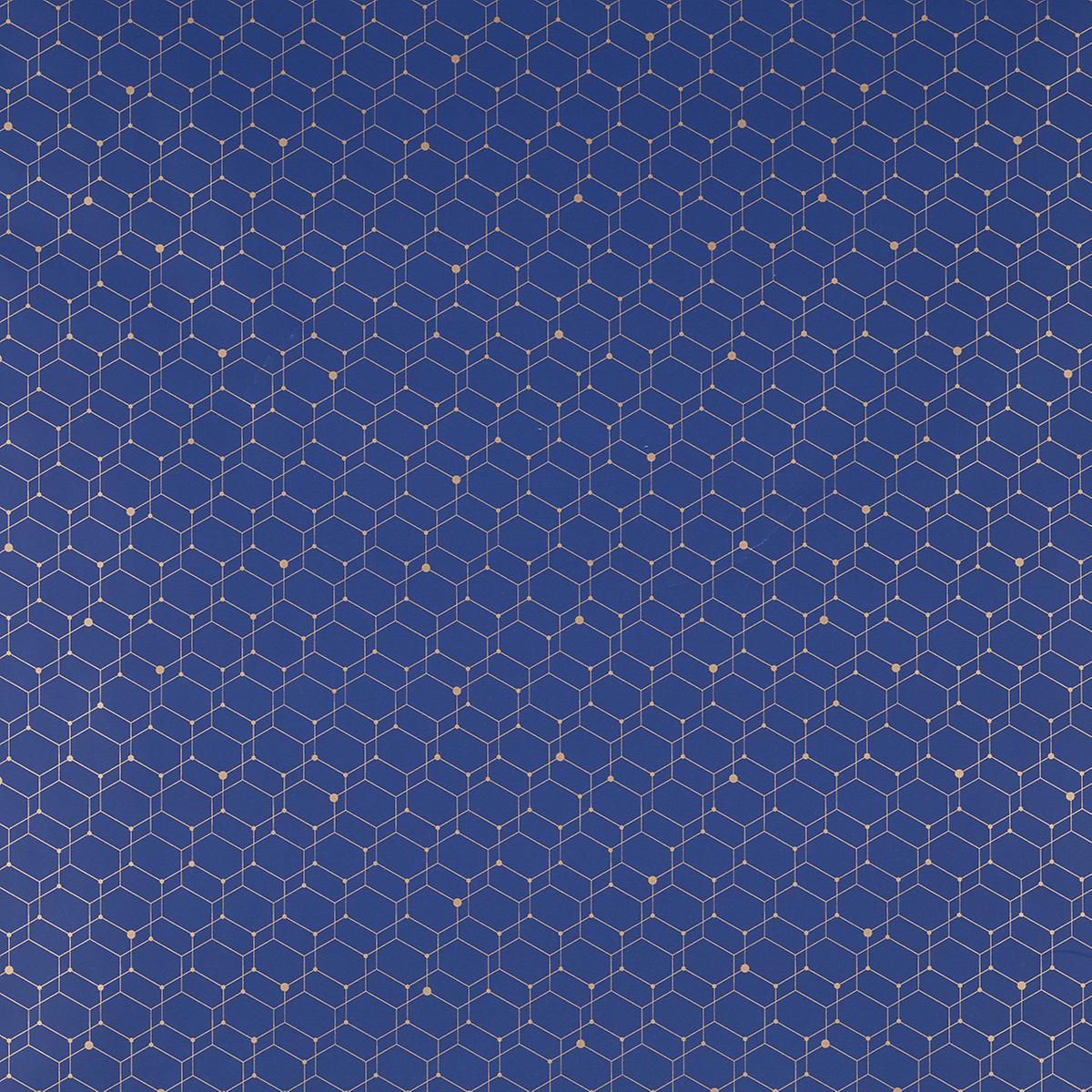 Navy & Gold Graphic Honeycomb Wrapping Paper