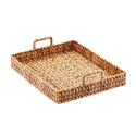 Water Hyacinth Serving Tray with Handles