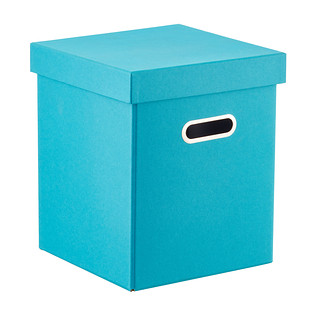 Bigso Turquoise Milo Toy Box Seat with Handles