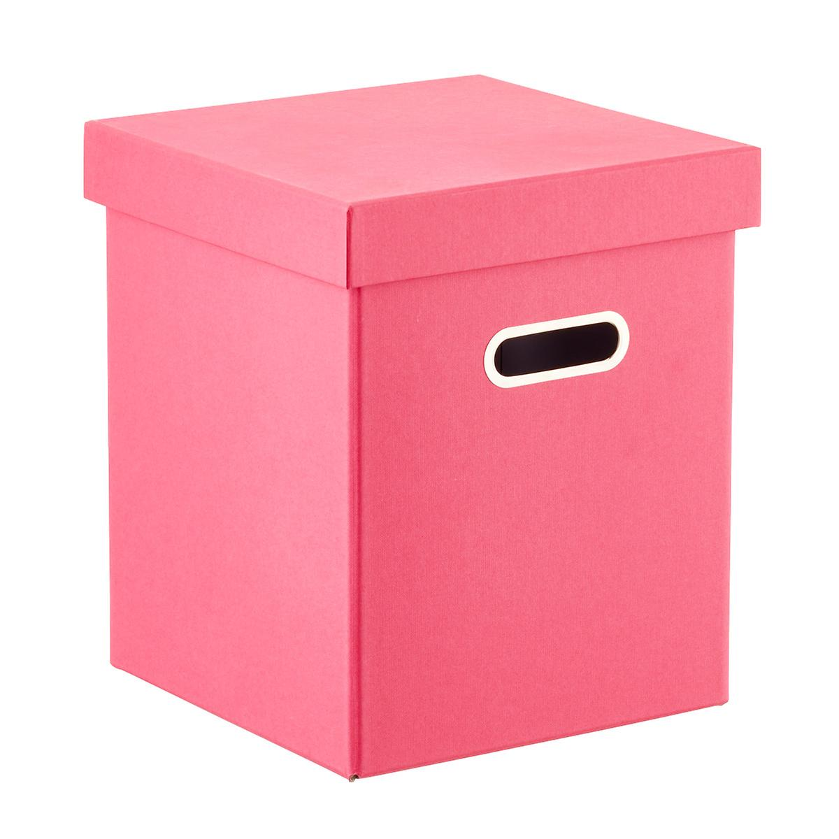 Bigso Pink Milo Toy Box Seat with Handles