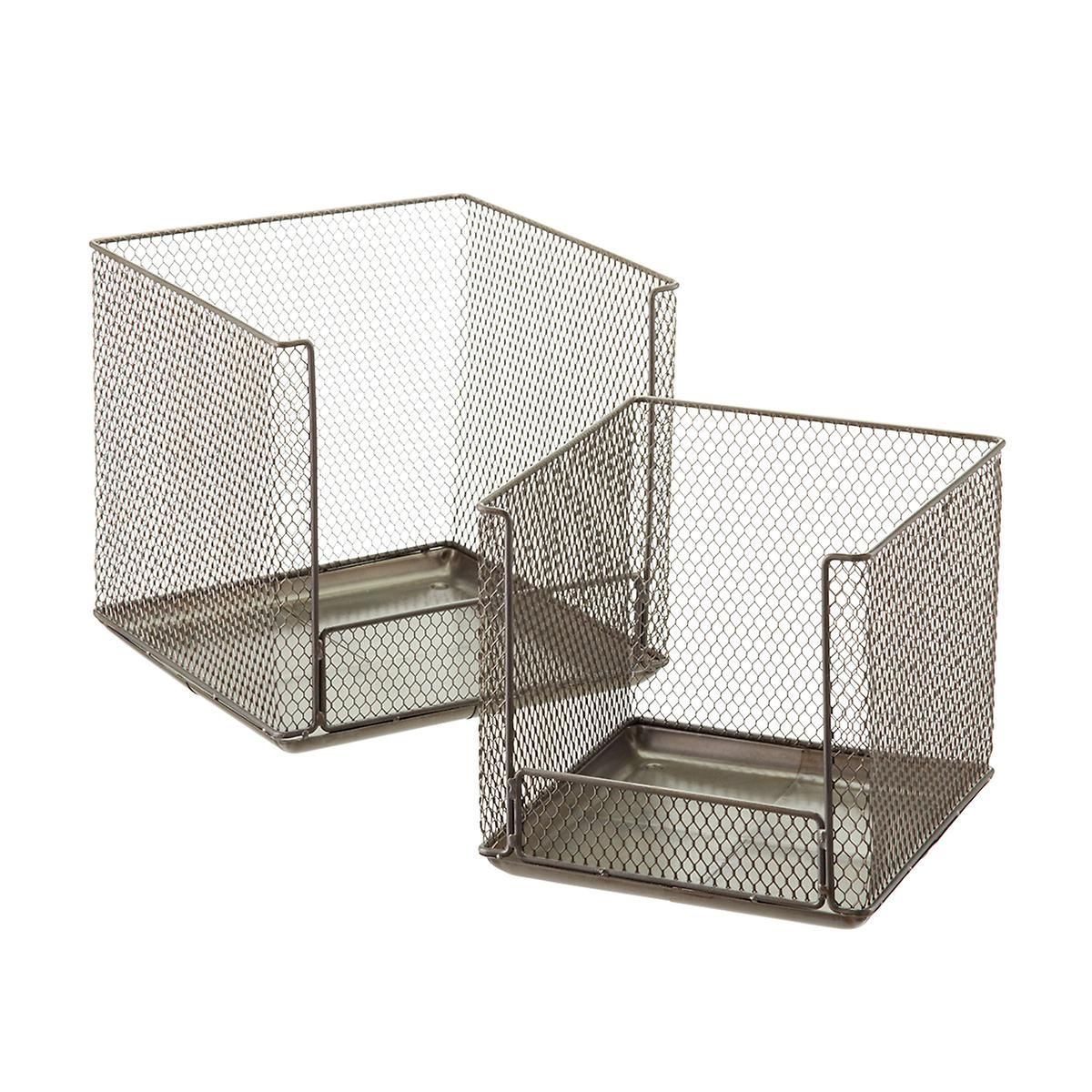 Design Ideas Open Front Stackable Wire Storage Cubes