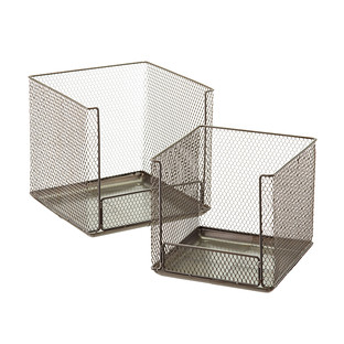 Design Ideas Open Front Stackable Wire Storage Cubes The