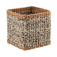 White & Black Napa Woven Storage Cube