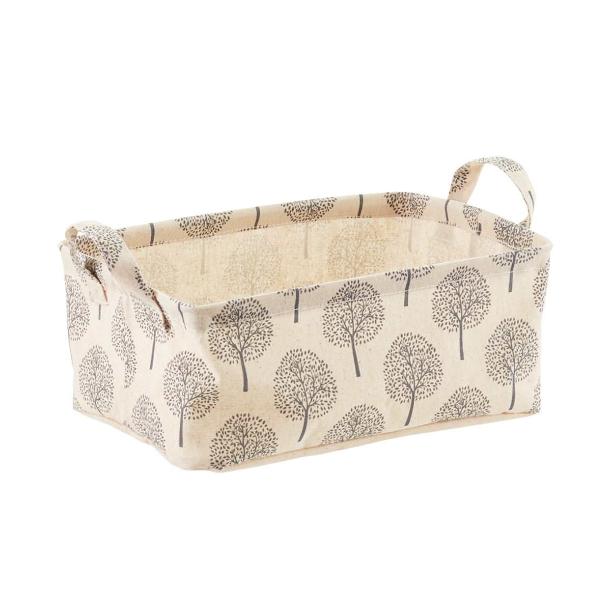 Superieur Natural Tree Print Fabric Storage Bins With Handles | The Container Store