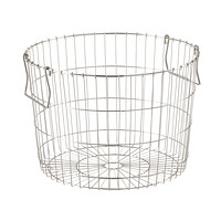 Round Silver Wire Storage Basket