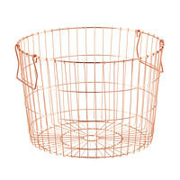 Round Copper Wire Storage Basket