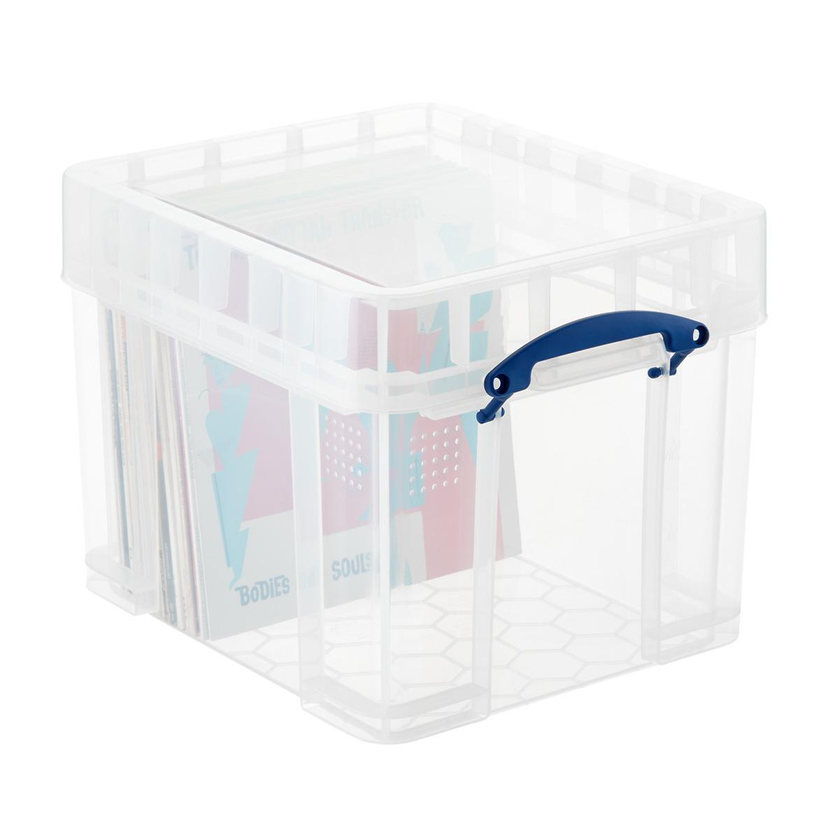 Really Useful Boxes Large Stackable Vinyl Record Storage Box