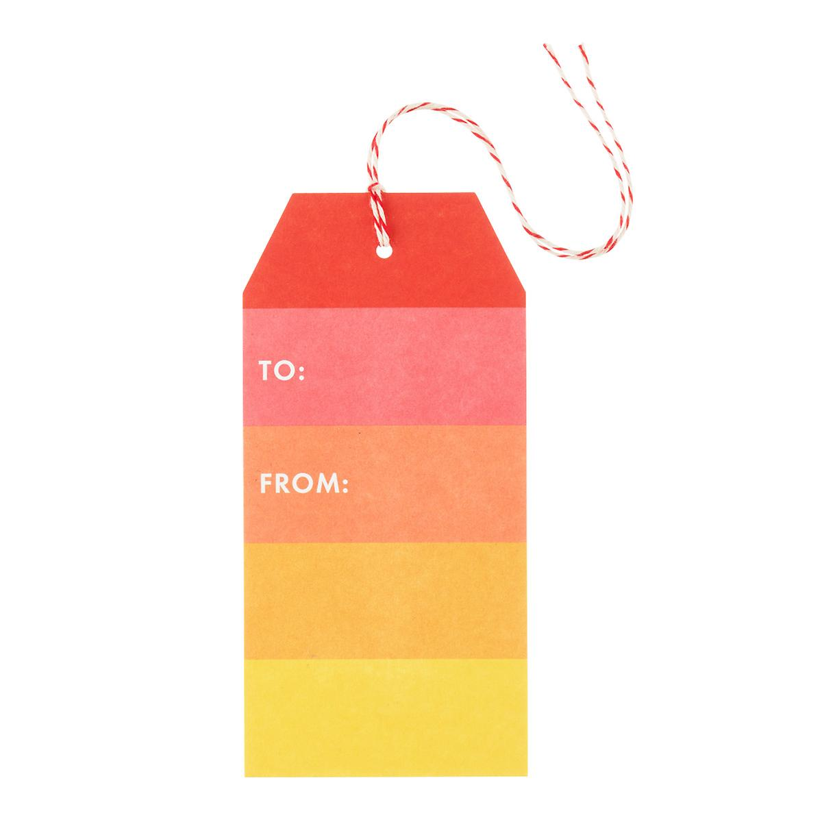 Colorblock Gift Tags