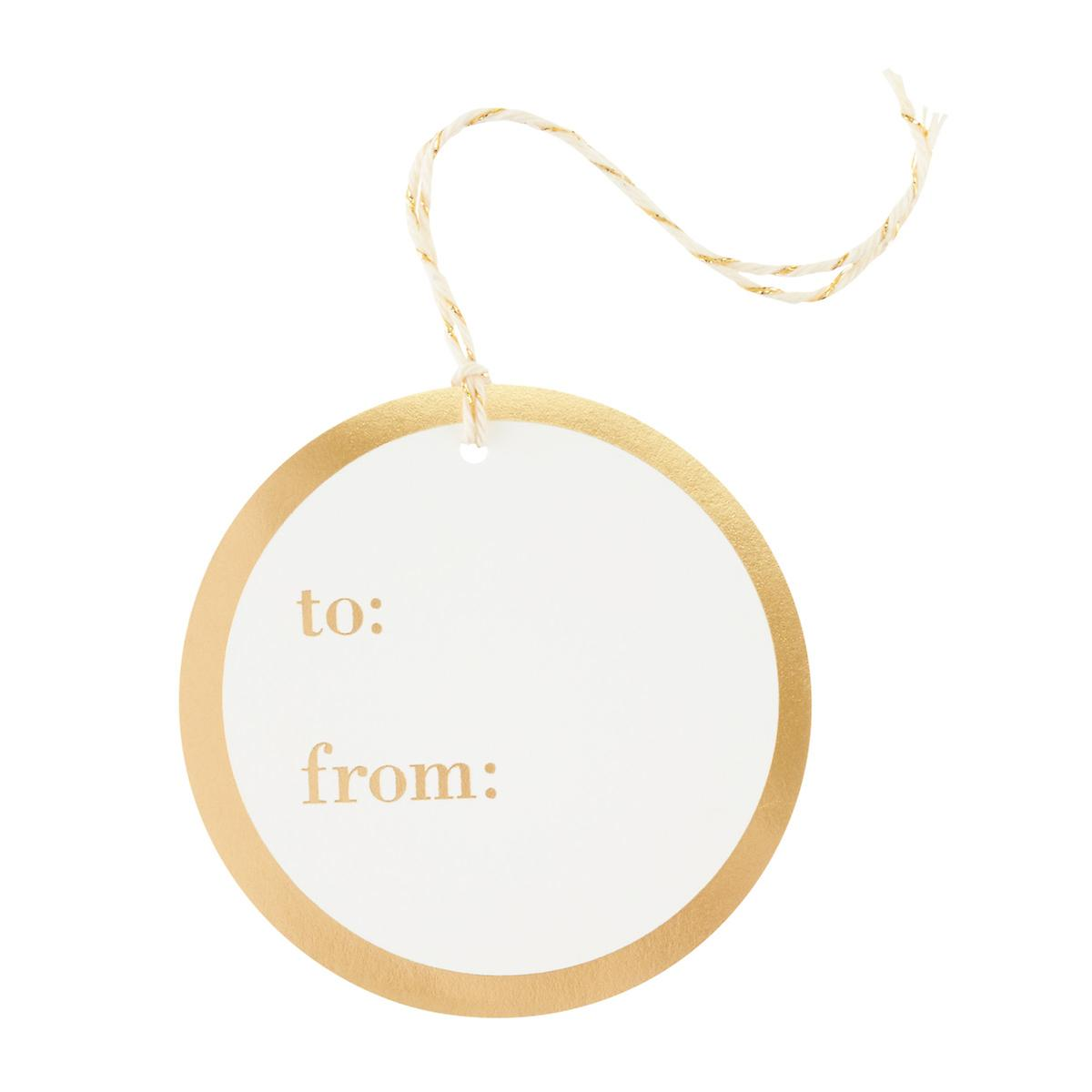 Gold To / From Circle Gift Tags